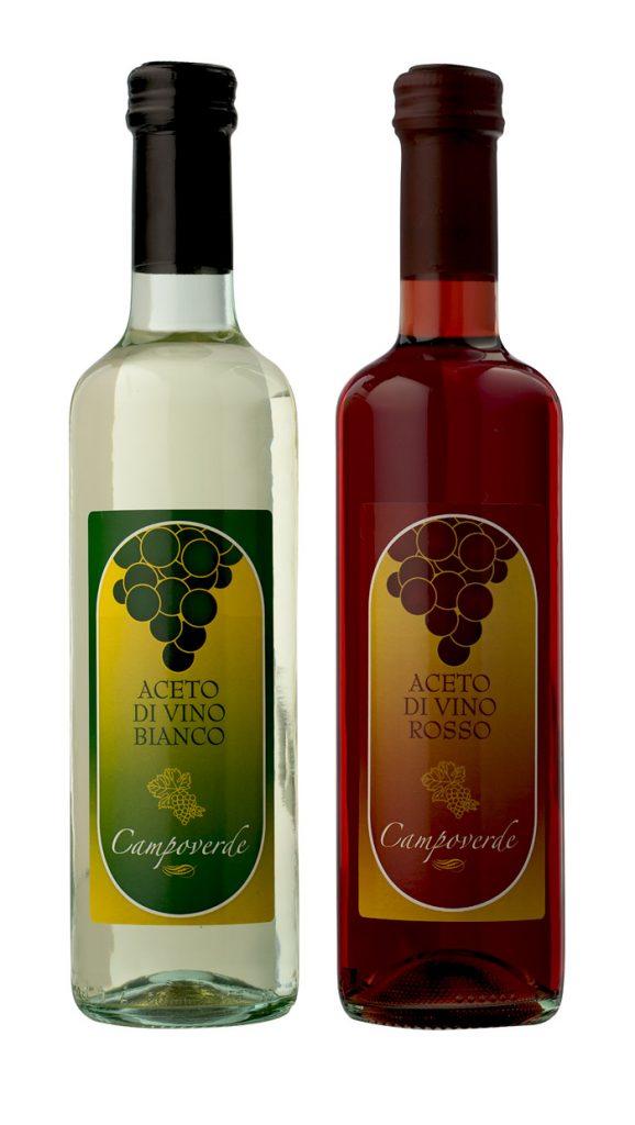 Aceto di vino rosso e bianco